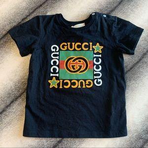 { Gucci } Logo Vintage GG T Shirt Black